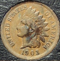 1903 Indian Head Penny Partial Liberty VG #0735 - $1.99