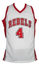 Larry Johnson #4 College Basketball Jersey Sewn White Any Size image 1