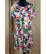 asos women's 10 floral dress short sleeve roses - $27.70