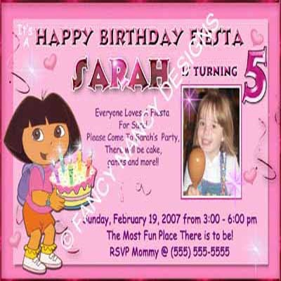 Dora The Explorer Go Diego Go Princess Custom Photo Birthday Party Invitations