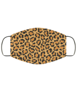 Leopard Print Design v1 Face Mask Artwork FMA Face Mask - $13.95+