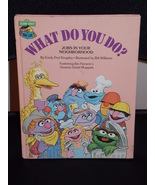 Vintage 1981 Sesame Street What Do You Do? Book Free Shipping - $14.99