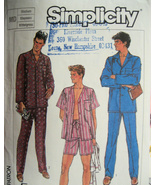 Vintage Pattern Mens Pajamas Medium Simplicity 7677 - $5.95