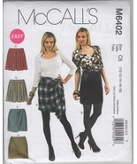 McCall's 6402 Misses' Skirts Sewing Pattern - S... - $4.00