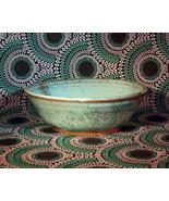 VINTAGE 1980 STONEWARE HANDMADE and SIGNED BOWL - EXCELLENT! - $19.99