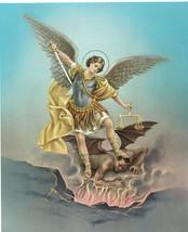 "Catholic Print Picture ST. MICHAEL ARCHANGEL w/ Devil 8x10"" ready to frame - $14.01"