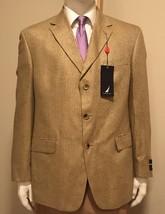 *NEW* NAUTICA 100% Silk Herringbone Tan Khaki Mens 44R Sport Coat Blazer... - $65.00