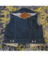 CUSTOM Gap x Harley Davidson Motor Cycles Denim Jeans Jacket Vest sz 2 T... - $53.26