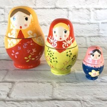 Russian Style Nesting Doll 6 Piece Colorful Ceramic Measuring Cup World ... - £10.47 GBP