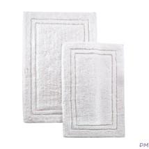 2-Pc White Superior Luxurious Cotton Non-Skid Bath Rug Set - $42.52