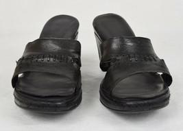 Enzo Angiolini Womens Sandal Wedge Eanicolitte Black Leather 8.5 - $44.55