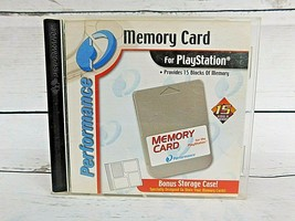 LOT of 4 Sony Playstation 1 PS1 Memory Card -Performance Interact Pre-Owned - $23.70