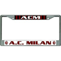 ac milan logo football club soccer chrome license plate frame usa made - $27.07