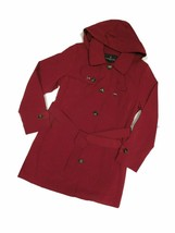 London Fog Chili Red  trench rain dress Coat w rem hood women's size 2XL... - $109.35
