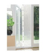 Magnetic Hands-Free Mesh Insect Screen Door WHITE Stops Bugs Mosquitos 8... - $22.00