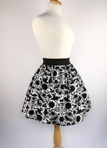 Black and White Doves Skirt / Mexican Dove Skirt - $45.95