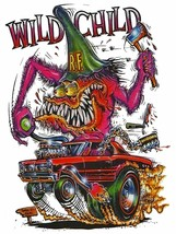 Rat Fink Wild Child Metal Sign - $34.95