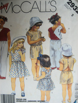 McCallls 293 New Sewing Pattern Child Size 3 Shorts Top Skir - $4.95