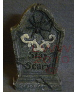 Stay Scary Halloween Resin table-top Grave Tombstone - $3.33