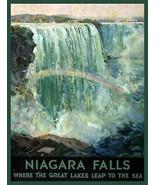 Wall Decor Poster.Home room interior art design.Niagara Falls with Rainb... - $10.89+