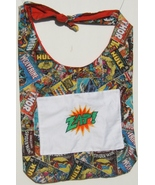Superhero Design Custom Made One Piece Adjustable Strap Tote w/Front Pocket - $24.95