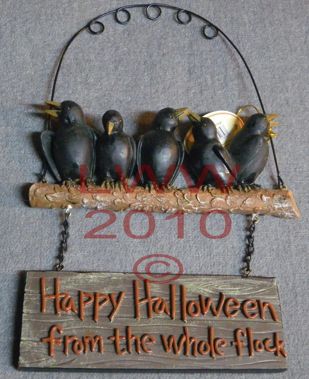 Happy Halloween from the Whole Flock Raven Crow Bird Sign