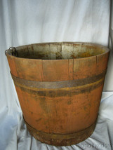 Antique Wooden Maple Syrup Sap Bucket  image 1
