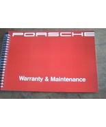 1991 Porsche 911 Owners Maintenance schedule Book Carrera new Reprint 928 - $69.29