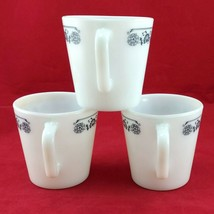 Pyrex 1410 Coffee Cups Vintage Old Town Blue ~ Set of 3 ~ Made in the USA image 2