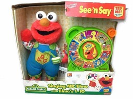 Vintage Sesame Street Talking ABC Elmo Plush & Fisher Price See N Say - $99.00