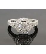 18K White Gold Round Diamond Encrusted Engagement Ring w/ 1.37CT car #20... - $4,455.00