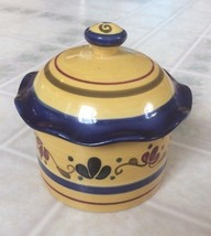 """Home and Garden Party Welcome Home Stoneware Sugar Bowl w/ Lid  4.25"""" H ... - $19.40"""