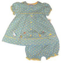 LeTop Darling Ducks Polka Dot Dress & Panty Size 9 Month - $36.00