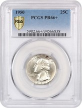 1950 25c PCGS PR 66+ Washington Quarter - $111.55