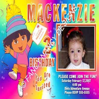 Primary image for Dora The Explorer Go Diego Go Girls Custom Photo Birthday Party Invitations