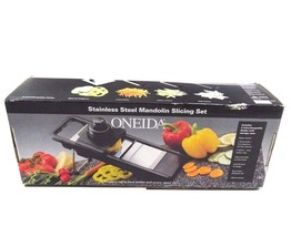 Oneida Stainless Steel Mandolin Slicing Set 5 Interchangeable Blades - €25,70 EUR
