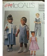 Vintage McCall's 2033 Toddlers Dress, Jacket,Shirt and Rompers Size CC (... - $4.95