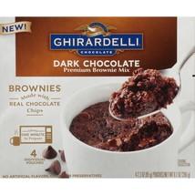 Ghirardelli Dark Chocolate Mug Premium Brownie Mix 4 Pouches 9.2-Oz (2 Boxes) - $16.82