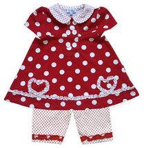 Le Top Infant Girls Polka Dot Capri Set  - $28.00