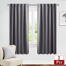 PONY DANCE Window Treatments Curtains - Gray Blackout Drapes Home Decora... - $25.98
