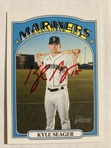 Kyle Seager Autographed 2021 Topps Heritage, Beautiful, Rare Red Signatu... - $65.00