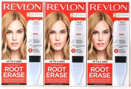 3 Boxes Revlon Permanent Root Erase Matches 8 Medium Blonde Shades Up To... - $31.99