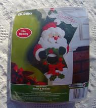 Bucilla Santa & Wreath Felt Stocking  Applique Kit - WM86739 - 18 Inch, Sequins, - $32.99