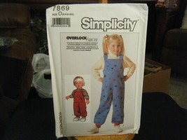 Simplicity 7869 Child's Knit Overalls & Top Pattern - Size 5/6/6X - $6.92