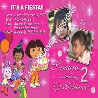Dora The Explorer Go Diego Go 2nd 3rd 4th 5th 6th 7th Birthday Party Invitations