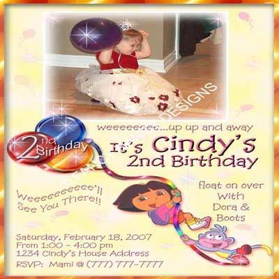 Dora The Explorer Go Diego Go Custom Photo Outdoor Birthday Party Invitations