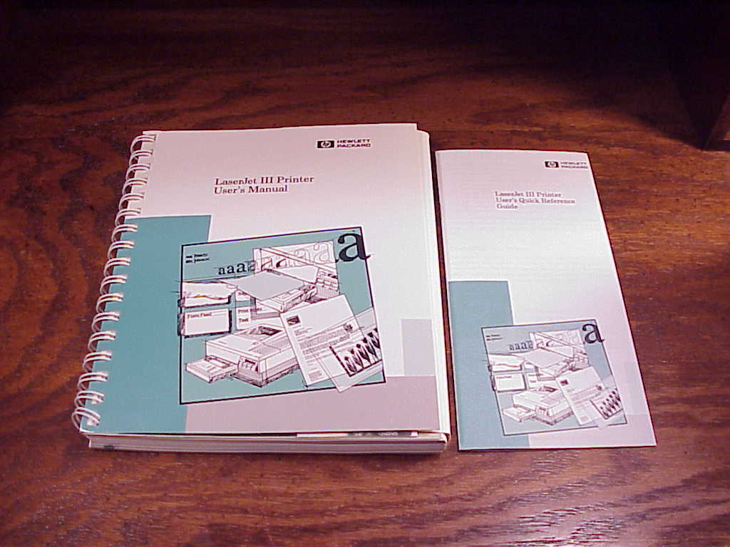 Primary image for HP Laserjet III User Manual Book and Quick Reference Guide, Hewlett Packard