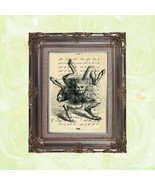 Book Page Art Print: the Demon Buer on Vintage Arabic Text - $16.00