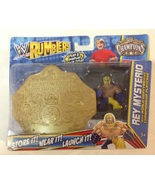WWE Rumblers Rey Mysterio w/ World Heavyweight Championship Playcase - New - $16.00