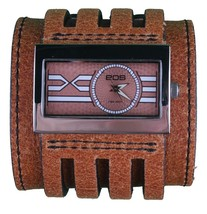 EOS Caseology Brown Leather Metro Wrist Watch image 1